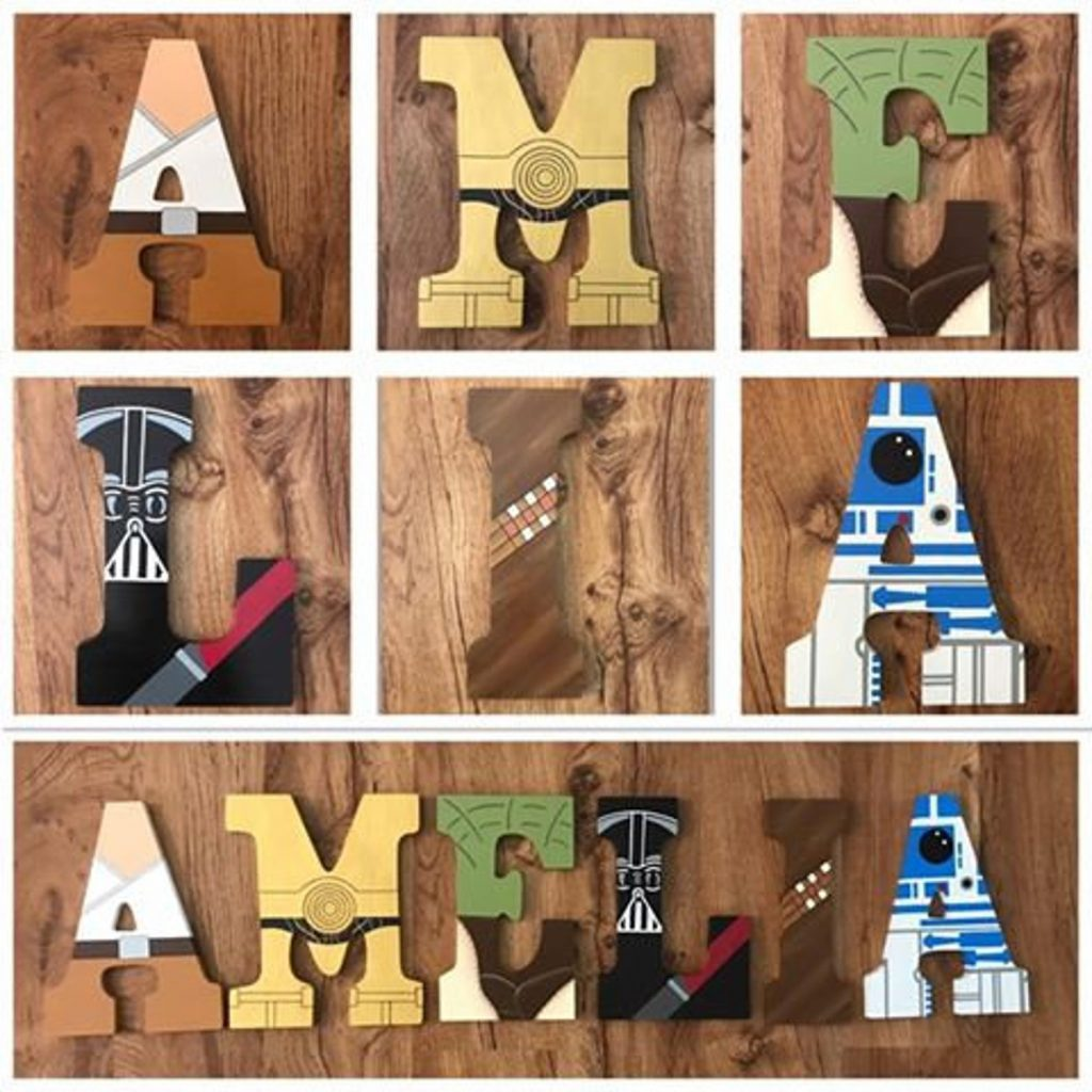 Star Wars Wooden Letters Wall Decor photo