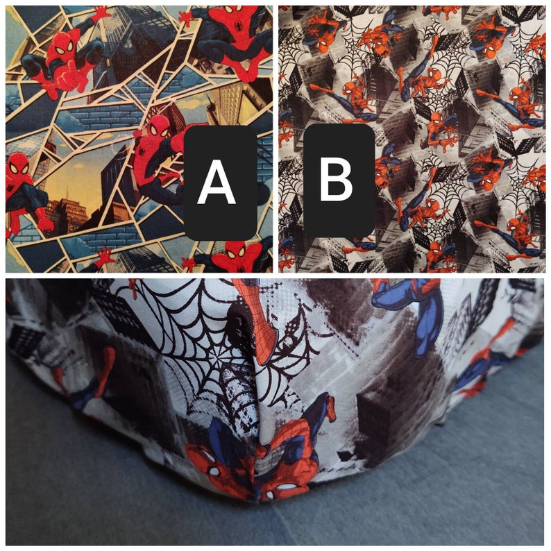 spider-man fitted baby crib sheets