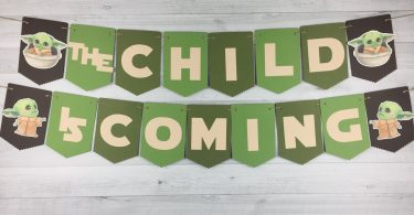 """Baby Yoda """"The Child is Coming"""" Banner photo"""