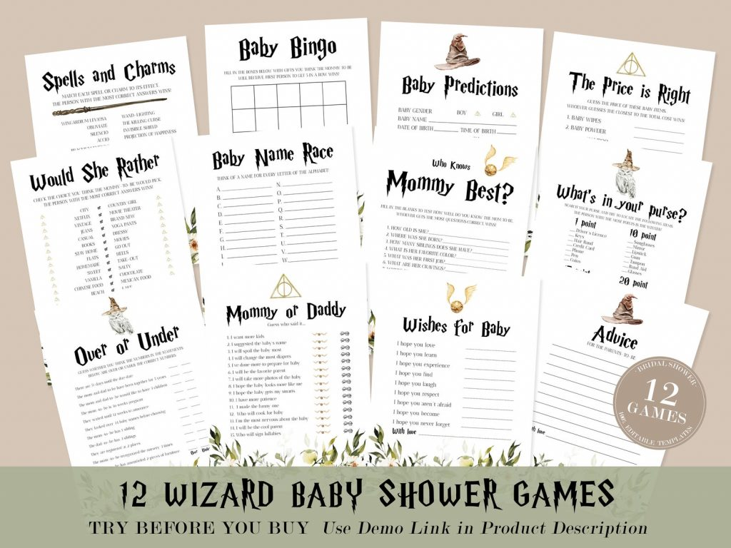 Wizard Party Baby Shower Games image